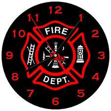 """8"""" WALL CLOCK - FIREFIGHTER 1 Fireman Fire Dept Man Hero Responder Emergency"""
