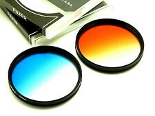 67mm Graduated Blue + Orange Filter Set For Nikon Canon Tamron DSLR Lens