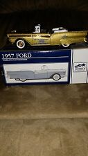 2000 9TH YEAR TIP UP TOWN BANK 1957 FORD FAIRLAIN W/BADGE -MICHIGAN DEER PATCHES