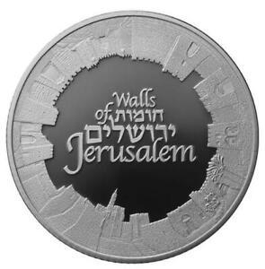 ISRAEL 2018 WALLS OF JERUSALEM SERIES  BULLION  1oz PURE SILVER COIN