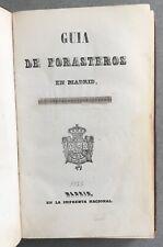 GUIA DE FORASTEROS EN MADRID 1856 IMPRENTA NATIONAL