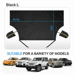 Snow Ice Windshield Cover Auto Car Truck Sun Shade Protector w/ 2 Mirror Covers