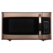 Hamilton Beach 1.1 Cu. Ft. Microwave Oven, Copper Child Safe LED Display