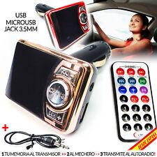 TRANSMISOR REPRODUCTOR FM PARA MECHERO DE COCHE microSD MICRO SD USB MP3 CAR