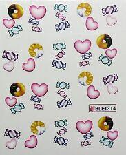 Accessoire ongles nail art , Stickers décalcomanie, spécial Saint Valentin
