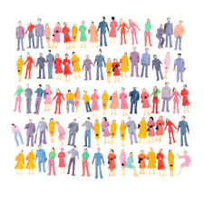 100x Mini HO Scale 1:100 Painted Model People Mix Painted Model Figures SP
