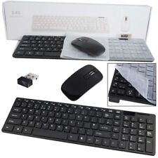 Cordless Keyboard & Mouse for Samsung BD-ES7000 Smart 3D Blu-ray Player BK Ku