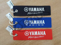 Genuine Yamaha Red/Black/Blue Suede 'Insert Before Flight' Keyring
