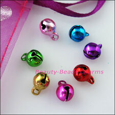 30Pcs Mixed Copper Christmas Bell Charms Pendants 6mm