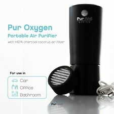 Pur Oxygen Purifier Travel Car Air Purifier w HEPA Charcoal Coconut Filter