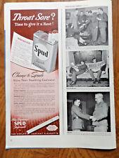 1942 Spud Cigarette Ad  1942 GE Mazda Lamps General Electric Ad Eyes At War
