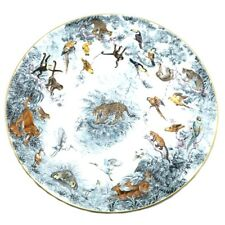 "Hermes Porcelain Carnets d'Equateur Plate Tray Tableware Ornament Interior 17.8"""