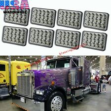 4 Pairs LED Headlights Sealed Beam Headlamps For FREIGHTLINER FLD 120 112 FLD