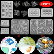 249pcs Resin Casting Silicone Molds Epoxy Spoon Kit Jewelry Making Pendant Craft
