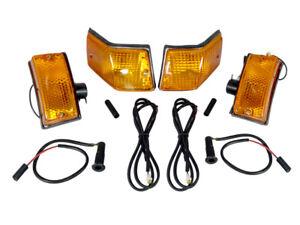 Vespa Front Rear Indicators Orange Set of 4 PX125 PX150 P200 LML Stella Genuine
