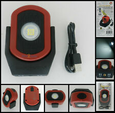 Maxxeon MXN00810 Cyclops USB Rechargeable LED Work Light Magnetic 720 Lumens RED