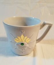Starbucks stamped emerald green jeweled eye compass 12 fl oz  mug cup 2014 #Z