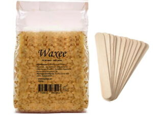 Filmwax + SPATULAS NO STRIPS Stripless Film Hard Wax Beans Brazilian Bikini HOT!