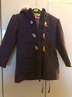 Indigo Girls Warm Purple Duffle Coat Aged 5 To 6