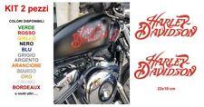 Kit Adesivi HARLEY DAVIDSON Stickers 2 pezzi serbatoio moto custom sportster 883