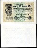 GERMANY 20 MILLIONEN MARK 1923 P 108 AUNC