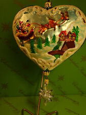 PROTOTYPE CHRISTOPHER RADKO HEART WITH HANGING STAR GLASS ORNAMENT