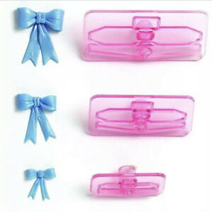 3D Bowknot Plastic Cake Chocolate Cookie Cutter Biscuit Fondant Mold C