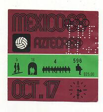 Orig.Ticket  Olympische Spiele MEXICO 1968  Fussball  MEXICO - GUINEA  !  SELTEN