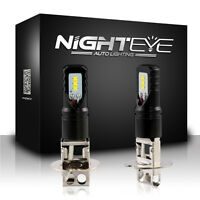 Nighteye H3 LED Super Bright Fog Light Head Bulbs DRL Driving Lamp 12V White