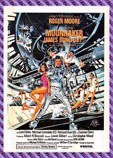 Cartolina Manifesto da Film - 007 MOONRAKER