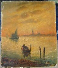 important O/b board art painting Venice Lagoon signed Boldini J Stuart Blackton