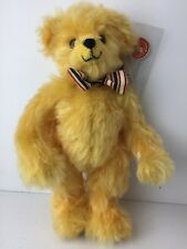 Merrythought Plush Toy Saffron Yellow Mohair Jointed Ltd Ed 239/500 with Cert