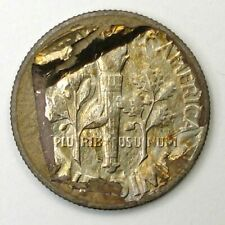 1946-S silver Roosevelt 10c 100% struck through thin foil what is this?