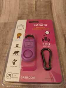 BASU The Original eAlarm Portable Emergency Personal Self Defense Alarm 120 decb
