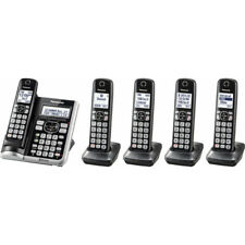 Panasonic DECT 6.0 Bluetooth Cordless Phone with Answering Machine & 5-Handset