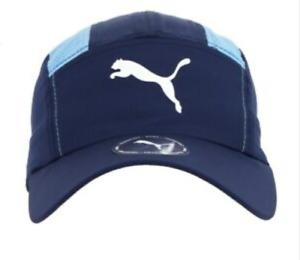 Man City Men's Hat Puma DNA Running Hat - Navy/Light Blue - New