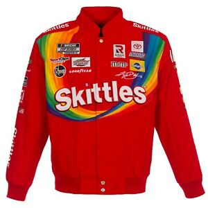 2021 Kyle Busch Skittles Full-Snap Twill Uniform Jacket  Red  Limited Edition