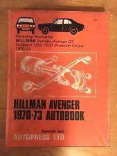 Hillman Avenger Workshop Manual 1970-73 Sunbeam