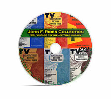 58 000 Vintage Tube Radio and Amplifier Schematics John Rider's Hi Res DVD B89