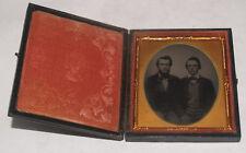 ANTIQUE TINTYPE PHOTOGRAPH IN CASE OF 2 MEN GENTLEMEN