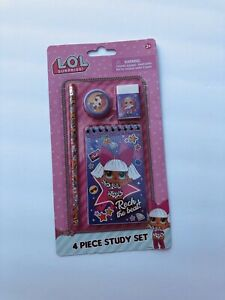 LOL Surprise Stationary Set Back to School Supplies for Kids 4 Pieces