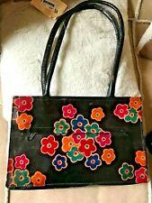 VLADY SL Spain Marroquineria Genuine Black/multi  Leather Lined Shoulder Bag VGC