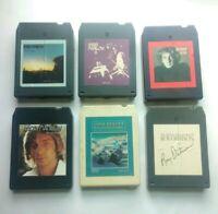 6 8 track tapes (lot) 4 Barry Manilow Roy Orbison John Denver Vintage works nice