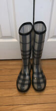 Authentic Burberry Rain Boots Tall Size 38 US 8 Italy