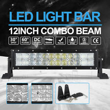 "168000LM Philips 12"" LED Light Bar Spot Flood Combo Beam offroad Black 4X4 12V"