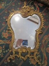 HEAVY FRENCH VICTORIAN MIRROR METAL REPOUSSE WORK , TABLE OR WALL