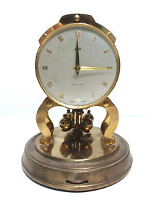 Vintage 23 cm Schatz #54 Brass 1000 Day Domed Anniversary Hand Wind Mantel Clock