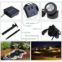 Solar Rotating LED Projection Light Stage Lawn Lamp Outdoor Bulb Lights