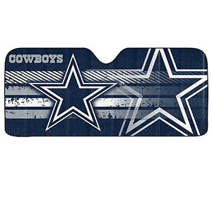 New NFL Dallas Cowboys Sunshade Bubble double sided 58''x 27'' Universal