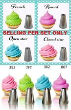 4PCS XL Big Classic  Icing Nozzle Cake Cupcake Decorating NOT WILTON Tips Set